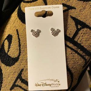 Swarovski silver Disney Mickey Mouse earrings ✨✨